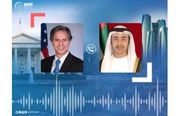 H.H. Sheikh Abdullah bin Zayed Al Nahyan and Antony Blinken, US Secretary of State