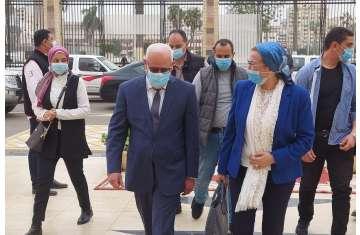 وصول وزيرة البيئة إلى محافظة بورسعيد