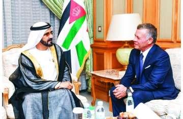 محمد بن راشد والملك عبدالله
